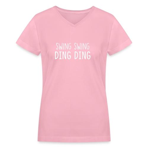 swingding - Women's V-Neck T-Shirt