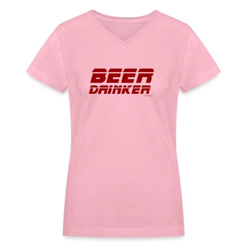 Beer Drinker - Women's V-Neck T-Shirt