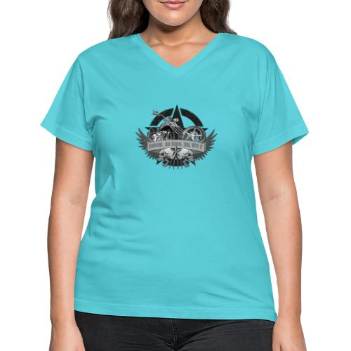 Hardcore. Old School. Deal With It. - Women's V-Neck T-Shirt