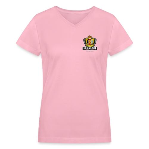 Allaire White - Women's V-Neck T-Shirt