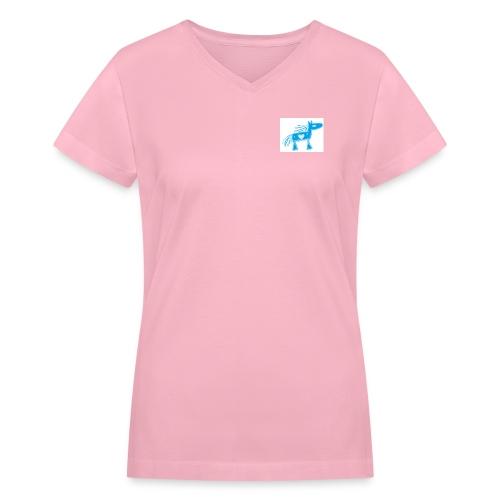 bluehorse2 - Women's V-Neck T-Shirt