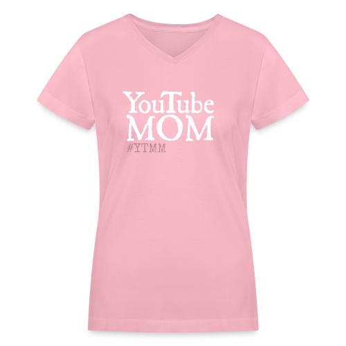 YouTube Mom png - Women's V-Neck T-Shirt