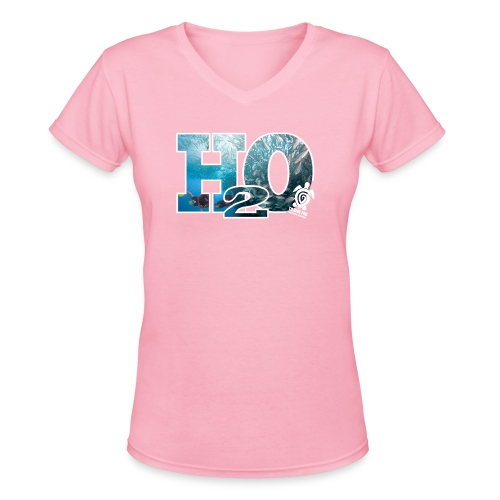 H20 Front png - Women's V-Neck T-Shirt