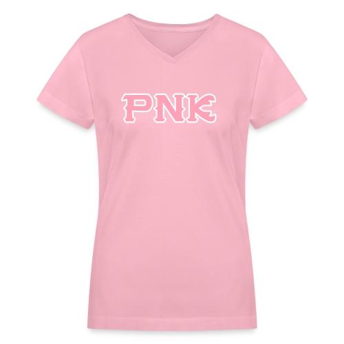 pnk - Women's V-Neck T-Shirt