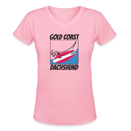 Gold Coast Dachshund - Women's V-Neck T-Shirt