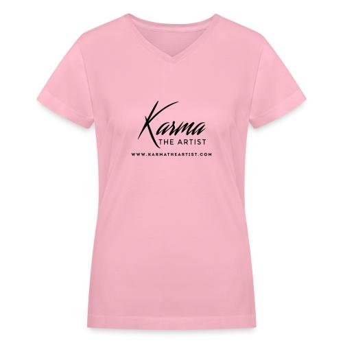 Karma - Women's V-Neck T-Shirt
