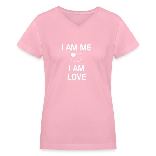 IAmMeIAmLove - Women's V-Neck T-Shirt