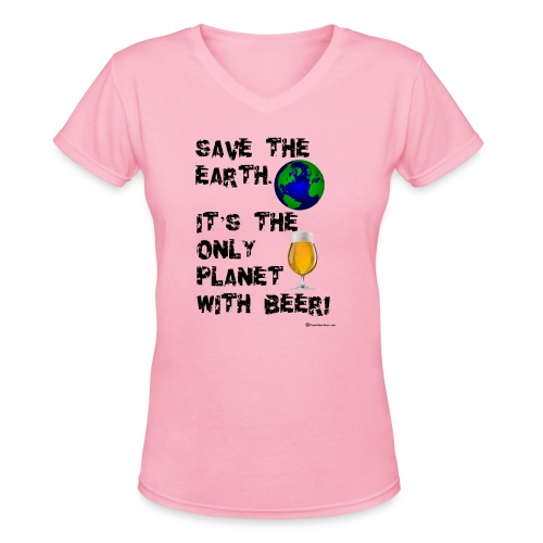 Save The Earth - Women's V-Neck T-Shirt