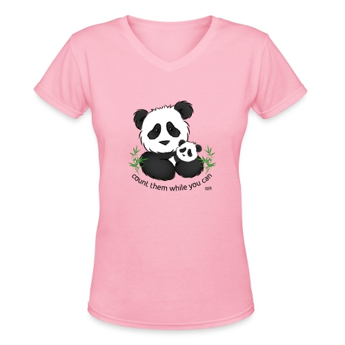 SnuggleCoats_panda - Women's V-Neck T-Shirt