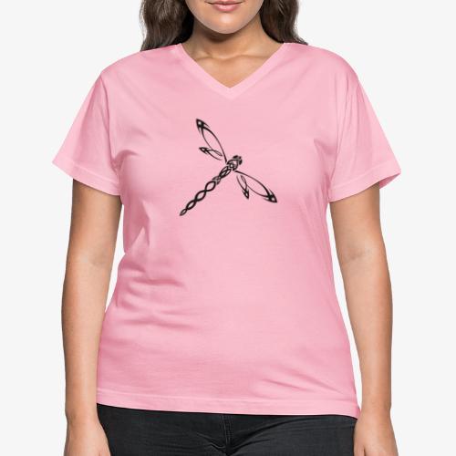 libelulle - T-shirt avec encolure en V pour femmes