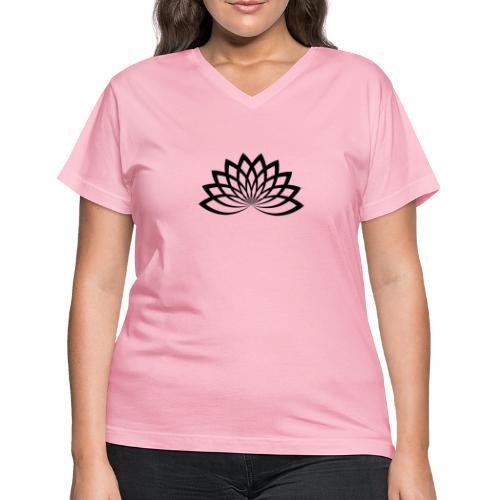 lotus noir - Women's V-Neck T-Shirt