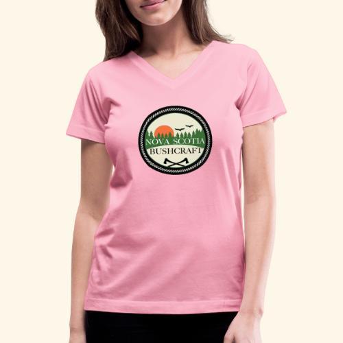 Nova Scotia Bushcraft3 - Women's V-Neck T-Shirt
