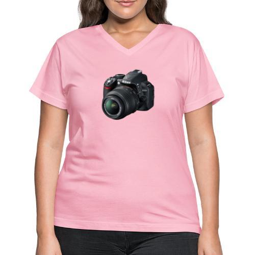 photographer - Women's V-Neck T-Shirt