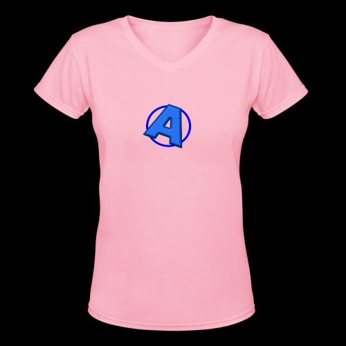 Awesomegamer Logo - Women's V-Neck T-Shirt