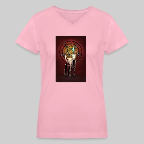 Baby Baphomet - Women's V-Neck T-Shirt