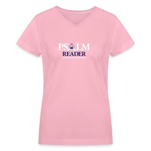 Psalm Reader - Women's V-Neck T-Shirt