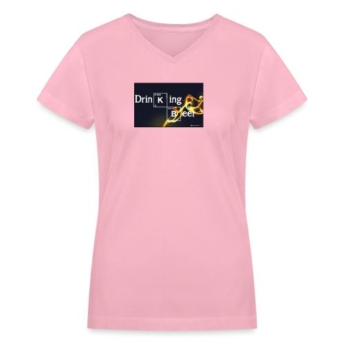 Drinking Beer - Women's V-Neck T-Shirt