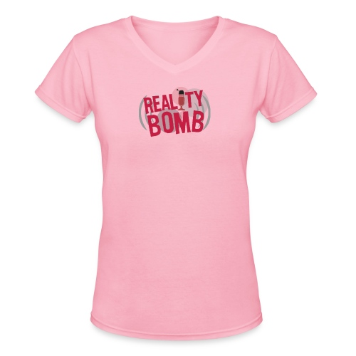 Reality Bomb logo png - Women's V-Neck T-Shirt