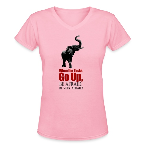 When the trunk goes up Be - Women's V-Neck T-Shirt