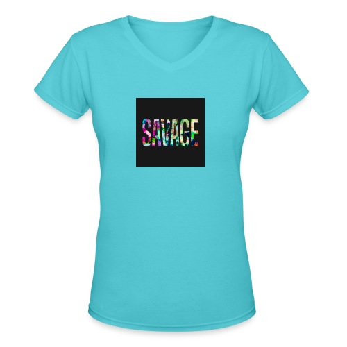 Savage Wear - Women's V-Neck T-Shirt