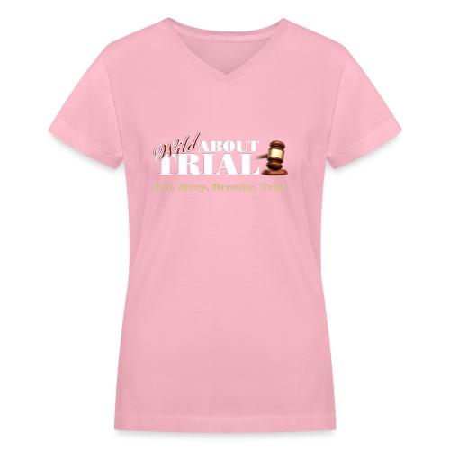 WAT - Eat, Sleep, Breathe, Trial - SALMON EDITION - Women's V-Neck T-Shirt