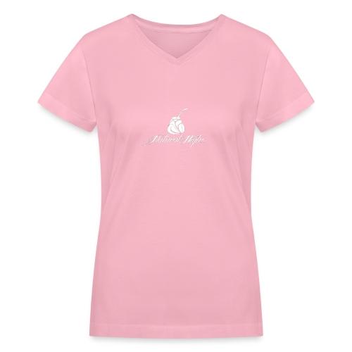 Natural Highs Logo In White - Women's V-Neck T-Shirt