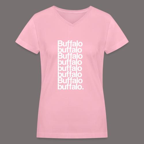 Buffalo buffalo Buffalo - Women's V-Neck T-Shirt