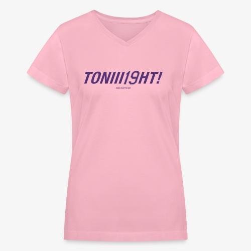 TONIII19HT purple2 - Women's V-Neck T-Shirt