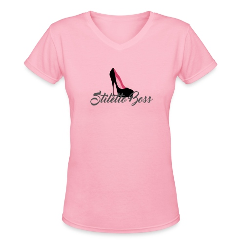 StilettoBoss -Pump - Women's V-Neck T-Shirt