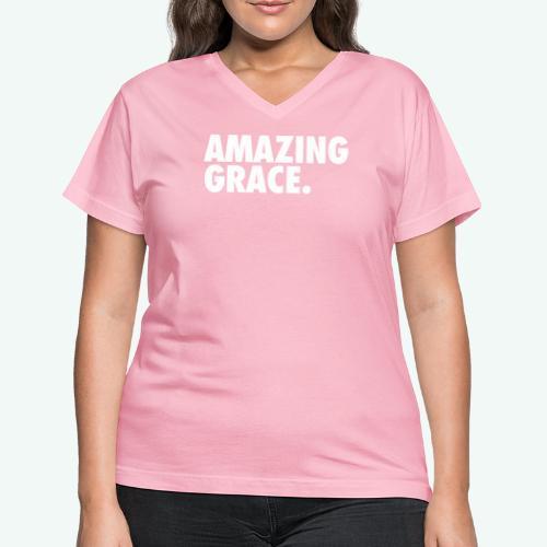 AMAZING GRACE - Women's V-Neck T-Shirt