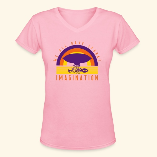 We All Have Sparks - Women's V-Neck T-Shirt