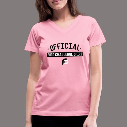 Official Food Challenge Shirt 1 - Women's V-Neck T-Shirt
