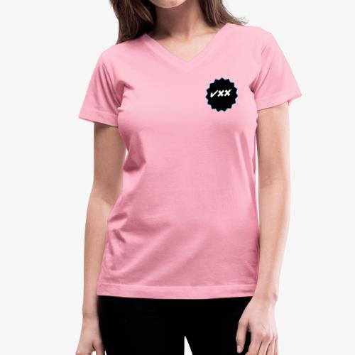 jxx clipped rev 1 - Women's V-Neck T-Shirt