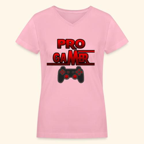 Pro Gamer - Women's V-Neck T-Shirt