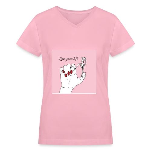 shirt-girls tumblr - Women's V-Neck T-Shirt