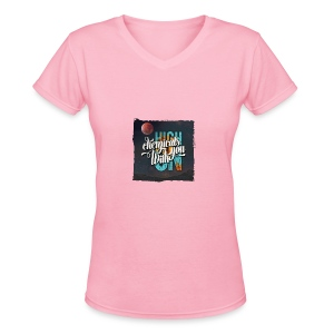 High On Chemicals With You - Women's V-Neck T-Shirt