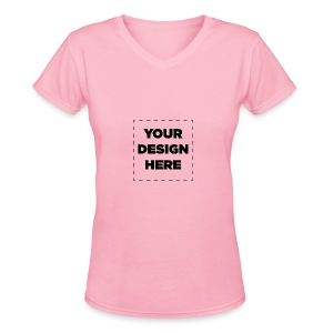 Name of design - Women's V-Neck T-Shirt