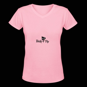 logo_T2F_b - Women's V-Neck T-Shirt