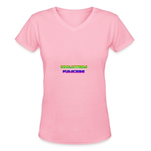 Cool Intros With Subscribe - Women's V-Neck T-Shirt