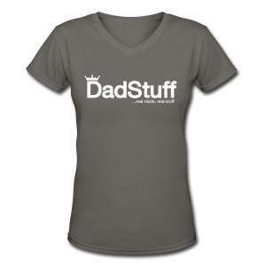 Dadstuff Full Horizontal - Women's V-Neck T-Shirt