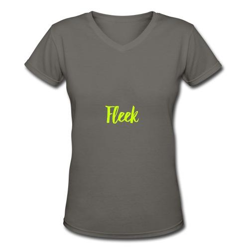 Fleek - Women's V-Neck T-Shirt