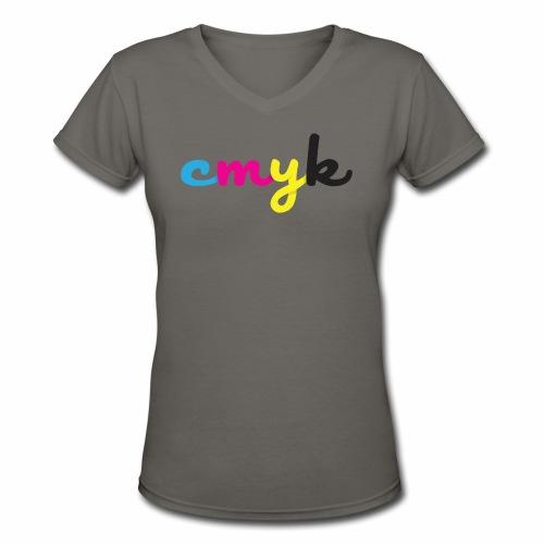 CMYK for Graphic Design Lovers - Women's V-Neck T-Shirt