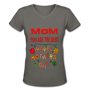happy mother's day best gift - Women's V-Neck T-Shirt