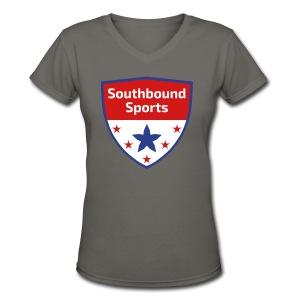 Southbound Sports Crest Logo - Women's V-Neck T-Shirt