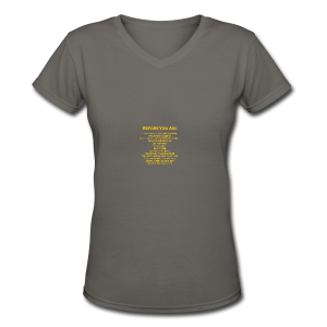 tshirt_pilotVersion_nologo_gold - Women's V-Neck T-Shirt