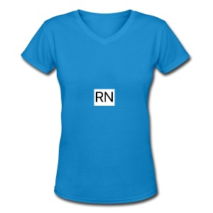 RN_Logo_small - Women's V-Neck T-Shirt