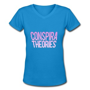 Women's - ConspiraTheories Official T-Shirt - Women's V-Neck T-Shirt