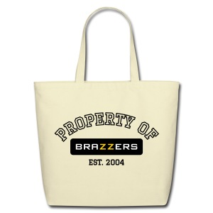 Property of Brazzers logo outline - Eco-Friendly Cotton Tote