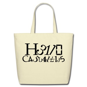 Hello Casualties Leet - Eco-Friendly Cotton Tote