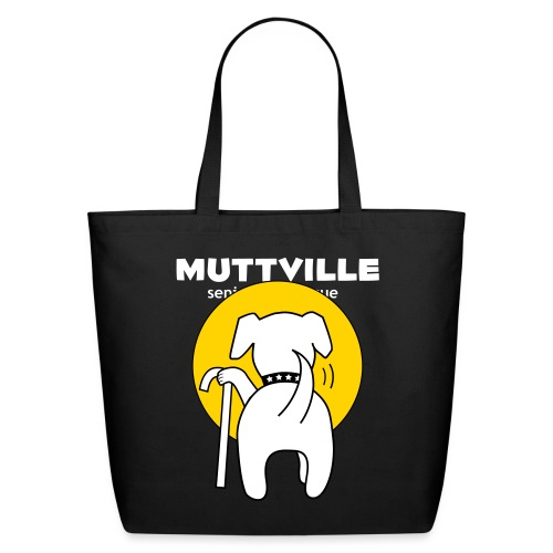 muttville wht - Eco-Friendly Cotton Tote